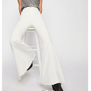 White Free People Flare Jeans